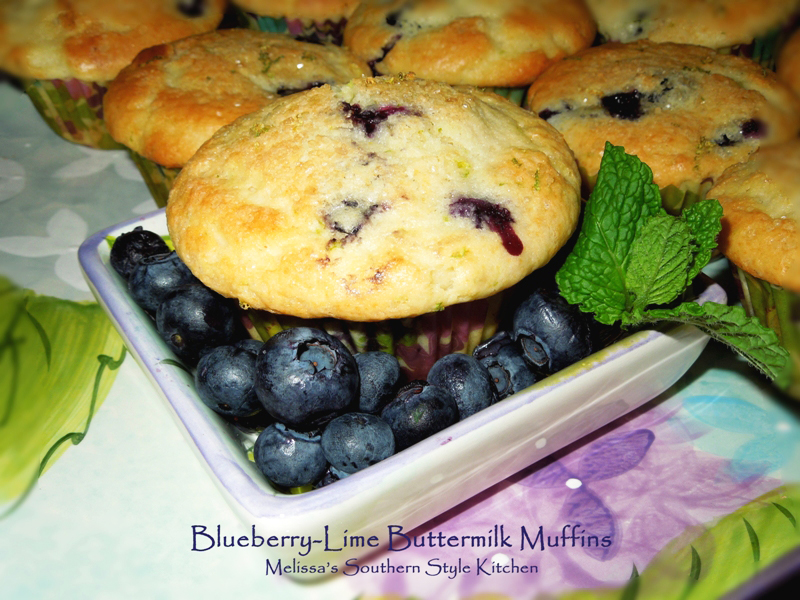 Melissa's Southern Style Kitchen: Blueberry-Lime Buttermilk Muffins