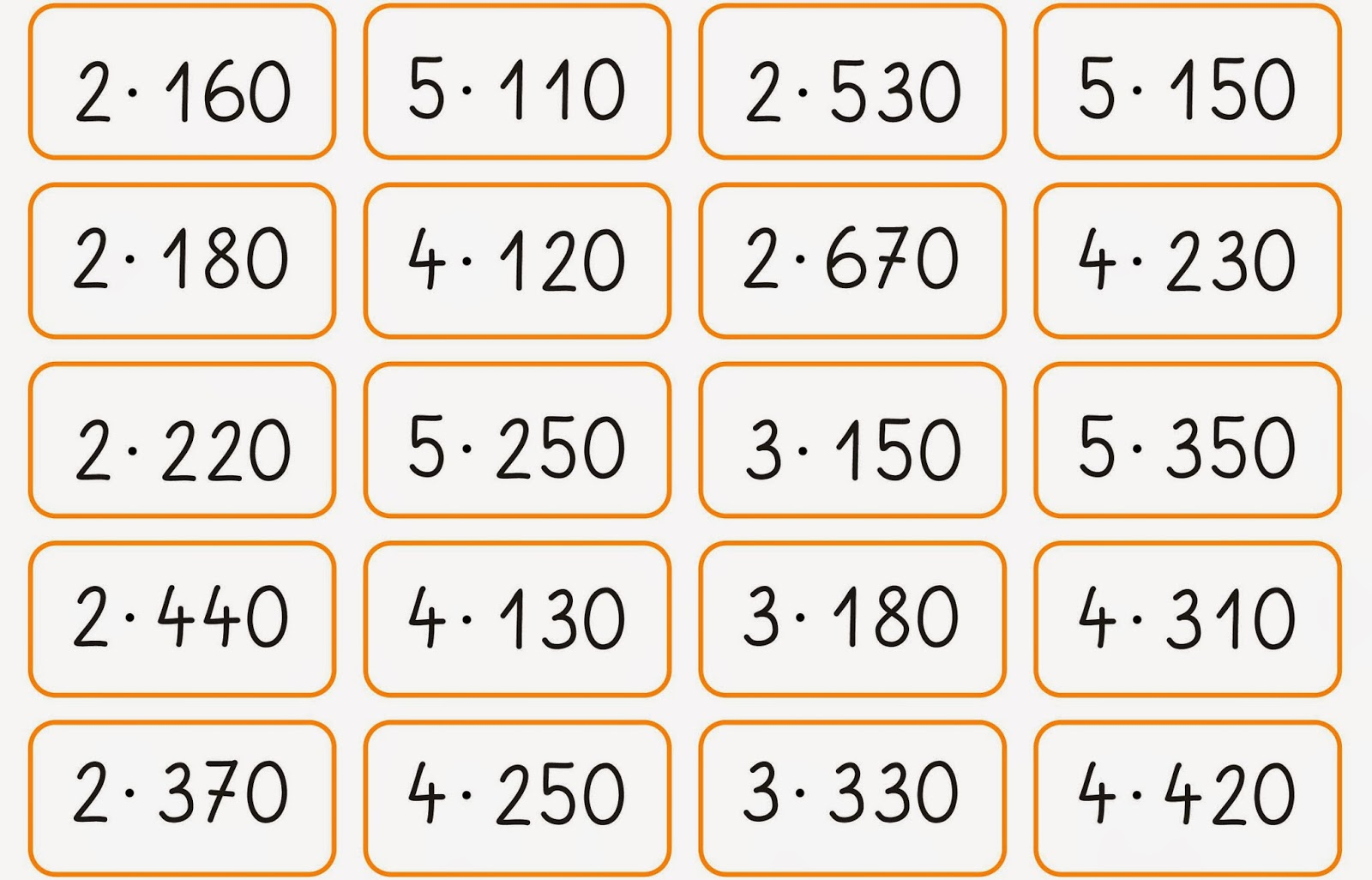 lernst252bchen multipizieren im kopf oder halbschriftlich