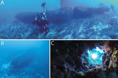 Monolito de civilização desconhecida é descoberto no fundo do Mediterrâneo