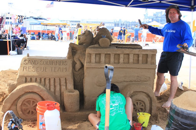 Sand Squirrels Rescue Team Sculpture at the U.S Sand Sculpting Challenge 2012 in San Diego, California, USA