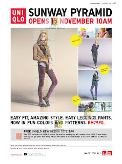 New UNIQLO Sunway Pyramid Opens 2012