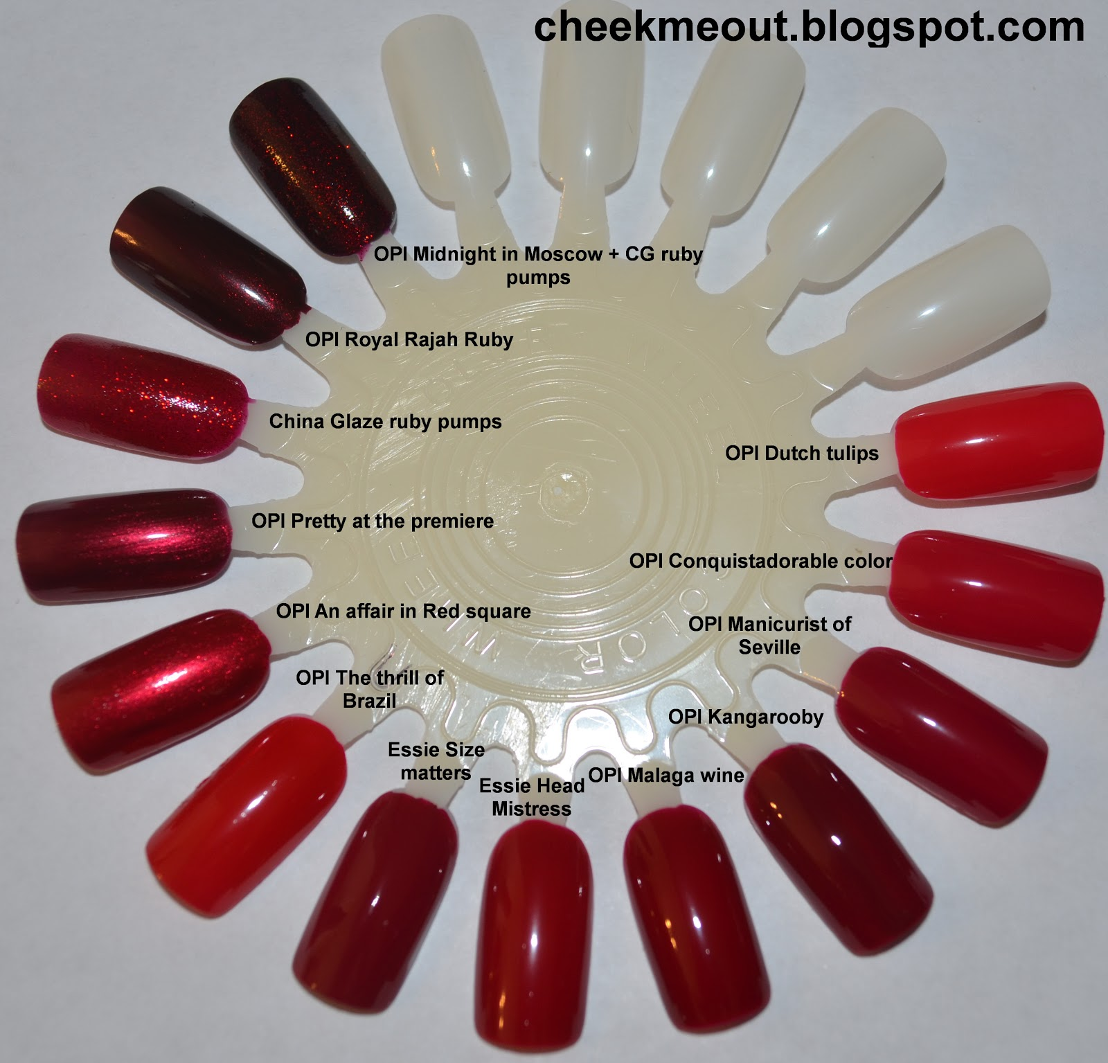 Nail polish comparison- Reds and Burgundies - My Beauty Galleria