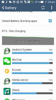 mengurangkan kuasa bateri