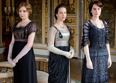 The three Crawley sisters. Edith gets strangely more attactive.