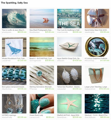 The Sparkling Salty Sea a treasury by Jennifer Kistler on Etsy.com