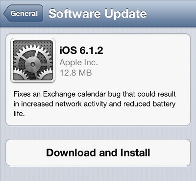 iOS 6.1.2 Update for iPhone, iPad and iPod Touch