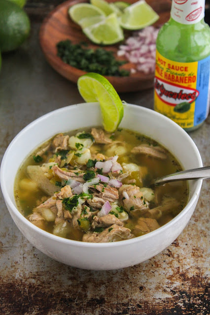 Slow Cooker Spicy Posole Verde | The Chef Next Door