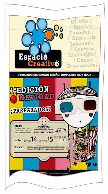"""Cartel Primera Edición Navidad """"Espacio Creativo"""" en Manzanares"""