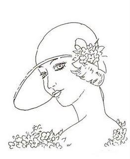 desenho dama antiga