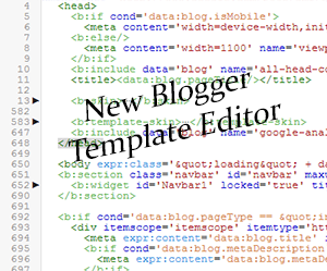 New+blogger+Template+Editor
