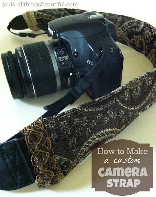 all things beautiful how to make a camera strap. Black Bedroom Furniture Sets. Home Design Ideas