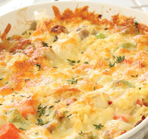 Alka's Recipes: Vegetable Au Gratin Microwave Recipe