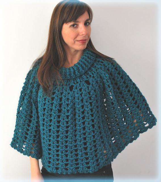 Ponchos tejidos al crochet calados - Imagui