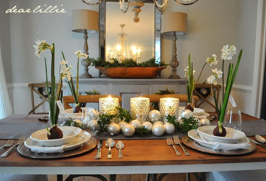 Our Christmas Table Setting Dear Lillie Studio