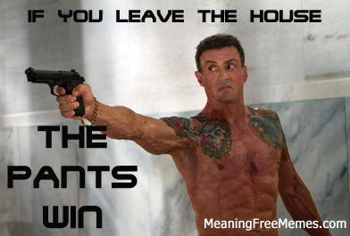 Stallone The Pants Win