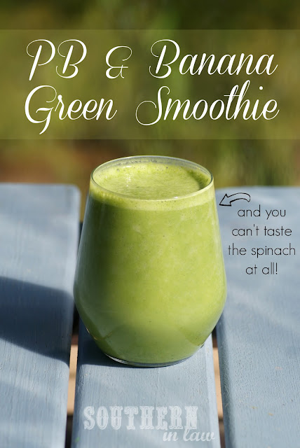 Peanut Butter and Banana Green Smoothie - Healthy, Vegan, Gluten Free, Low Fat