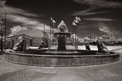 London Bridge fountain, Lake Havasu City, Arizona, infrared, New Braunfels photographer