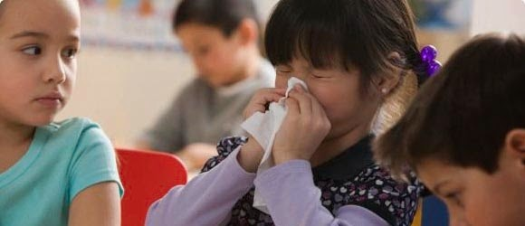 gejala flu anak