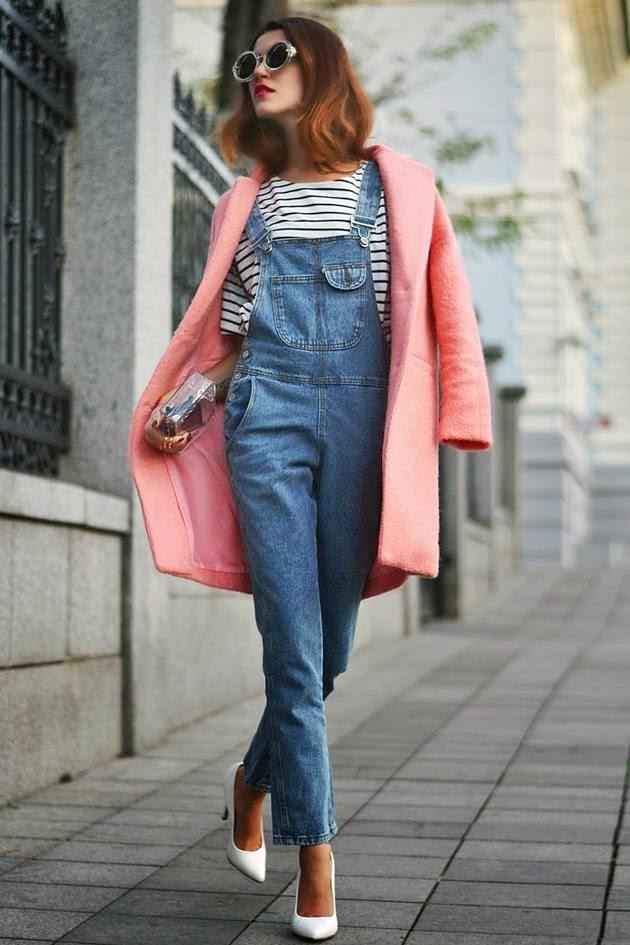Como combinar abrigo rosa pastel
