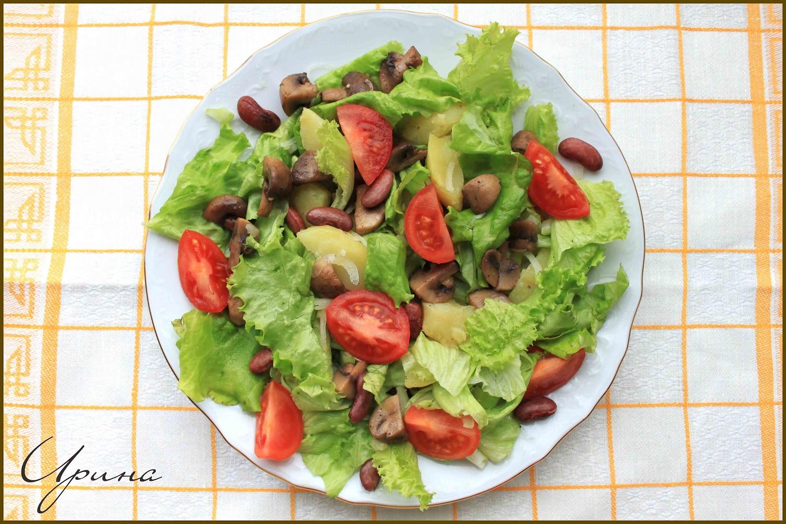 Помидоры черри шампиньоны салат