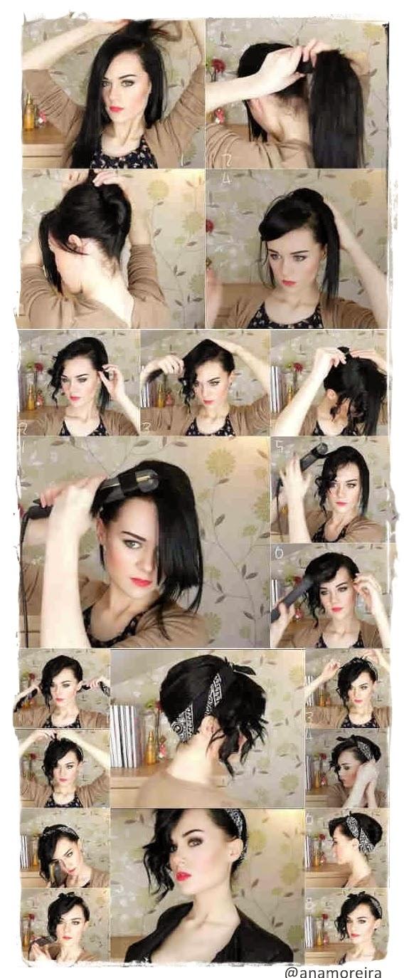 penteado-facil-rapido-lenço-tutorial