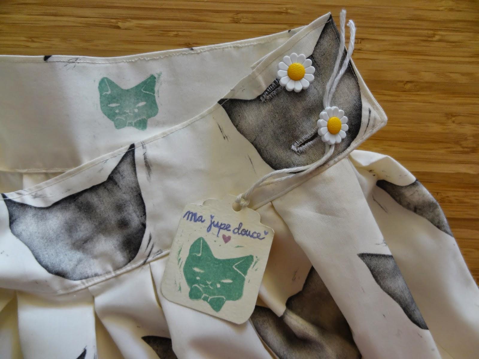 handmade print skirt customized falda estampada personalizada naif fashion the desire