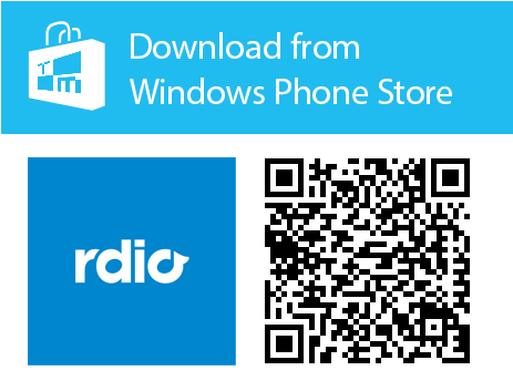 Rdio Music Streaming Services app qr code