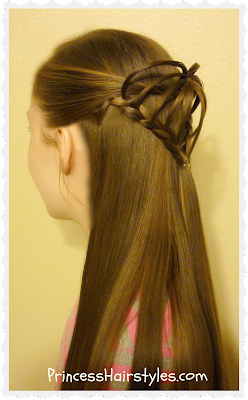 Valentine's Day Hairstyles, 3d braided heart tutorial
