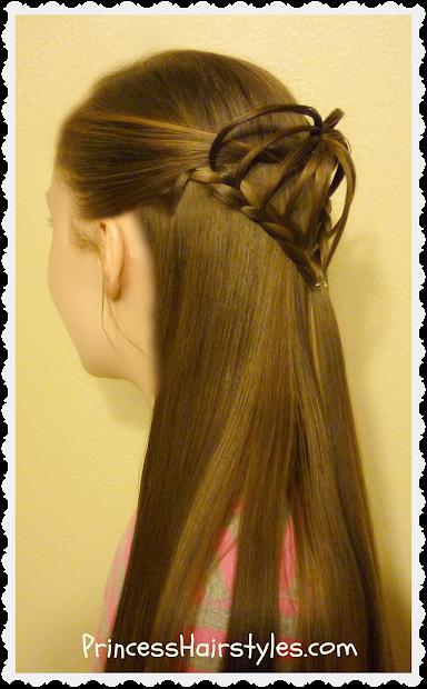 3d heart hairstyle valentine's
