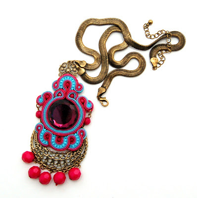 naszyjnik wisior sutasz soutache pendant necklace 33
