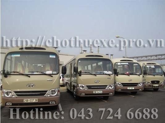 Cho thuê xe 29 chỗ Hyundai County tại Hà Nội