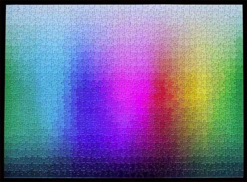 Clemens Habichtが作った1,000ピースのCMYKの色域を上手に使ったジグソーパズルはコロンブスの卵。