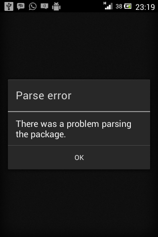 mengatasi there was a problem parsing the package saat install aplikasi android