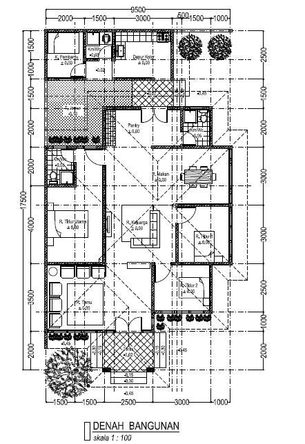 Denah Rumah Type 60 1 Lantai Dan 2 Lantai