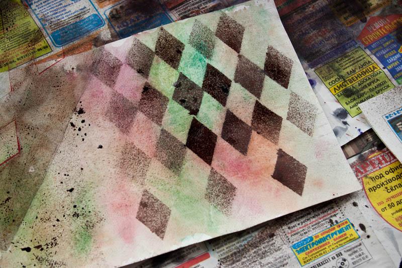 Краска бумага своими руками