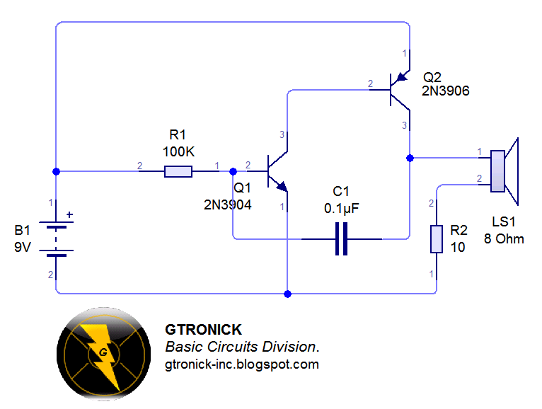 Circuito Oscilador : Gtronick circuitos básicos