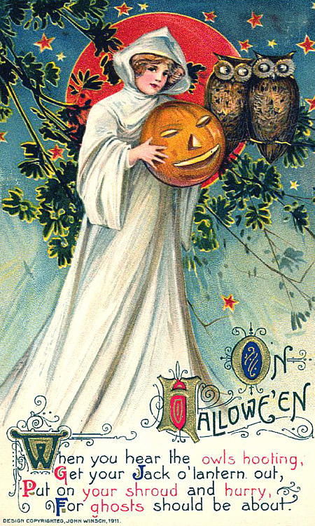 Vintage Victorian Halloween Card