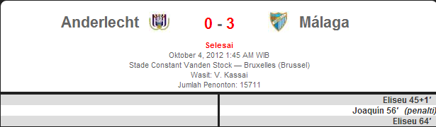 Anderlecht vs Malaga