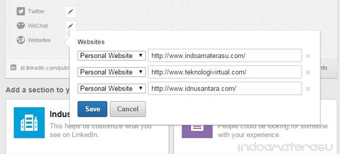 Menambahkan URL Web Blog