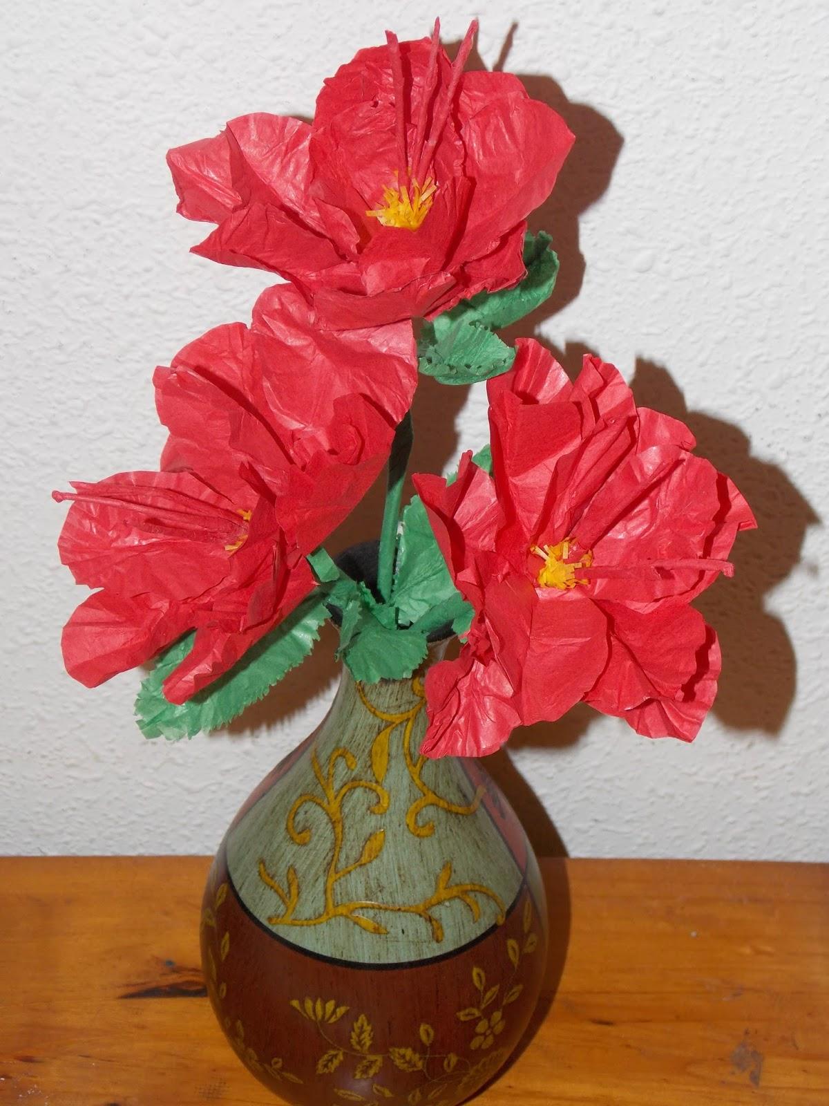 Flores de Papel de seda Hibisco
