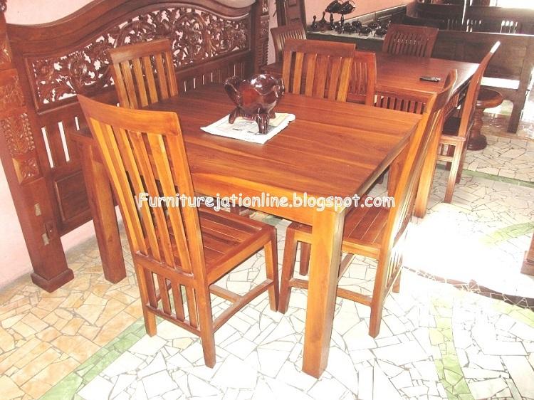 meja makan minimalis jati furniture jati