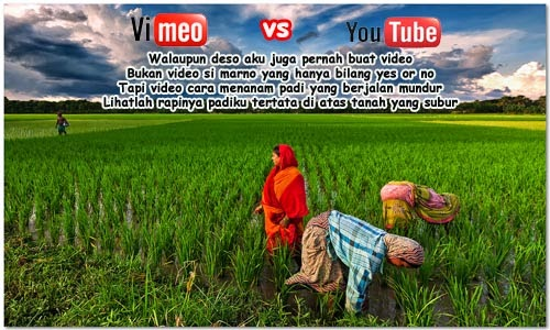 Puisi Vimeo vs Youtube versi Seniman