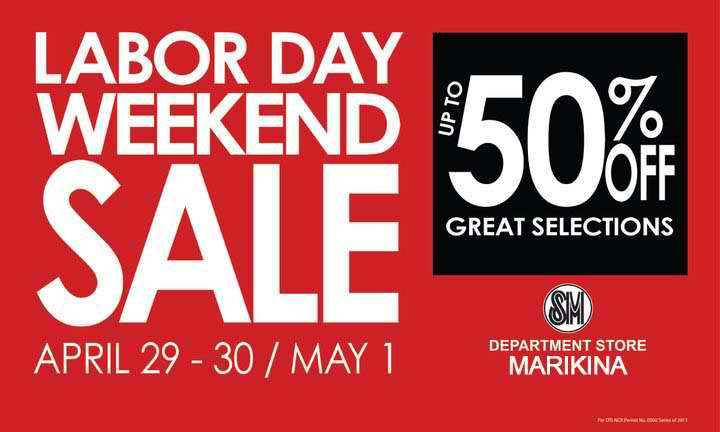 fresh promos sm malls labor day sale apr 29 apr 30 may 1. Black Bedroom Furniture Sets. Home Design Ideas