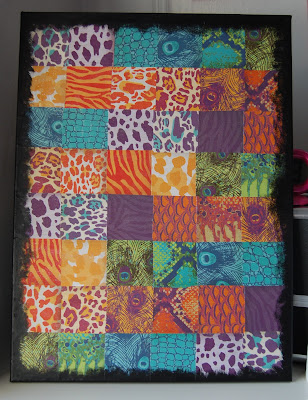 Animal Print Scrapbook Paper Canvas