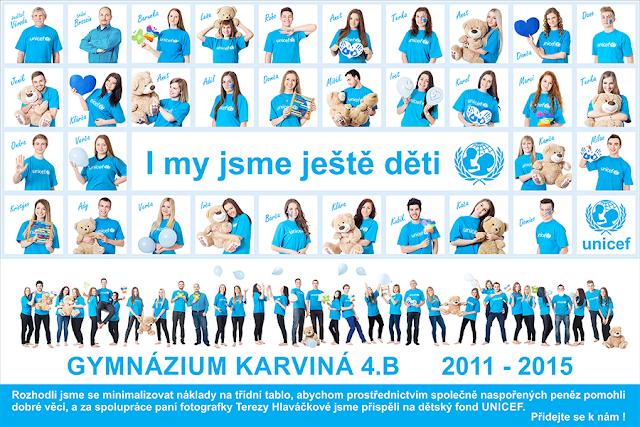 fotografie tereza hlaváčková, fotografka Karviná, focení tabla, Gymnázium Karviná, tablo unicef