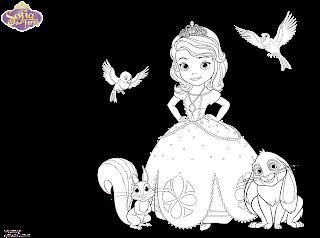 princesa sofia para colorir pintar imprimir