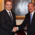 Presidente Medina recibe presidente del Banco Popular Español