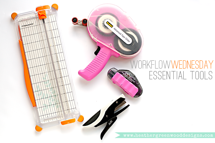 Heather Greenwood Designs | a list of 4 essential tools for every paper crafter, #pocketscrapbooking, #scrapbooking #papercrafts