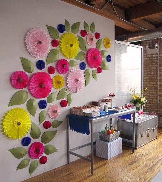 Wall Decoration Paper Flowers : Amazing creativity paper flower decor inspiration