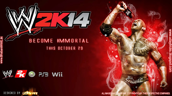 "Download ""WWE 2K14"" HQ Wallpaper (feat. The Rock) - Designed By Uday Rai Via iPOST"